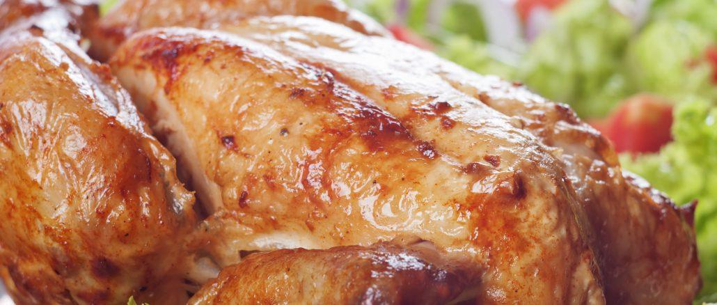 Lækker ovnstegt kylling med salat